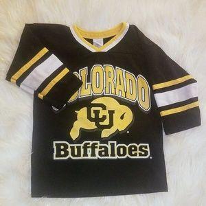 Colorado CU Buffalos team logo shirt